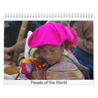 Gente del mundo calendarios de pared