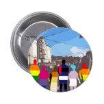 Gente del orgullo de GLBT en el Castro #2 Pins