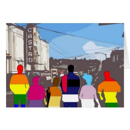 Gente del orgullo de GLBT en el Castro #2 Tarjeta