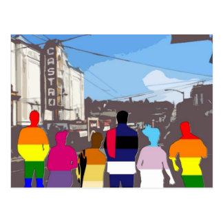 Gente del orgullo de GLBT en el Castro #2 Postal