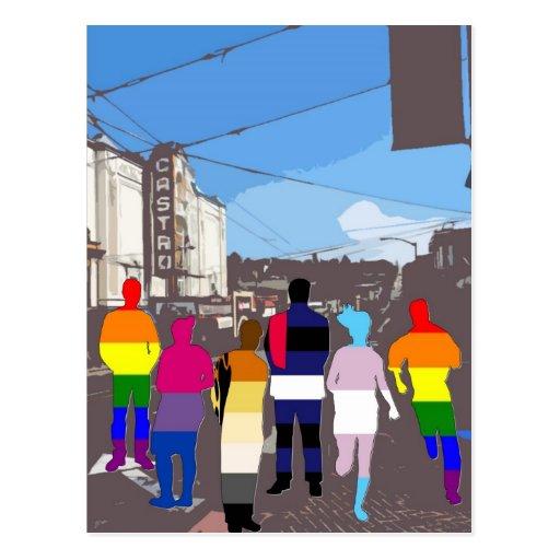 Gente del orgullo de GLBT en el Castro #2 Tarjeta Postal