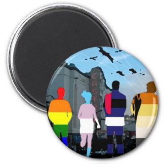 Gente del orgullo de GLBT en el Castro Imán Redondo 5 Cm
