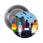 Gente del orgullo de GLBT en el Castro Pin