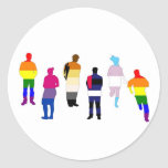 Gente del orgullo de GLBT Etiqueta Redonda