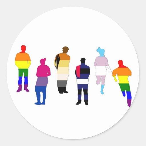 Gente del orgullo de GLBT Etiquetas Redondas