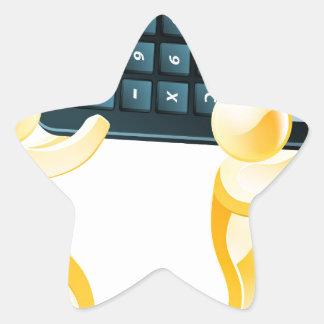 Gente del oro de la calculadora calcomanía forma de estrellae