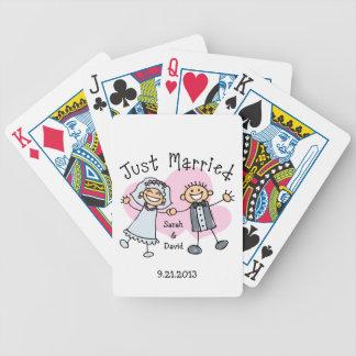 Gente del palillo apenas casada cartas de juego