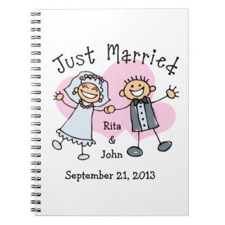 Gente del palillo apenas casada spiral notebooks