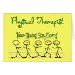 gente del palillo del terapeuta del physicall felicitación