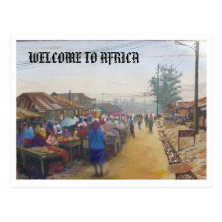 gente del pueblo, RECEPCIÓN A ÁFRICA Postal