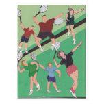 gente del tenis en la corte postal