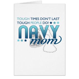 Gente dura (mamá de la marina de guerra) tarjeta de felicitación