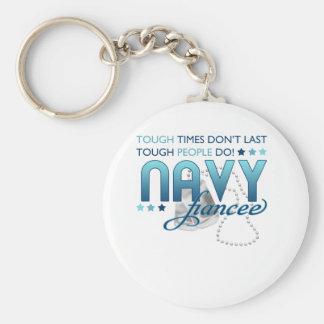 Gente dura (prometido de la marina de guerra) llavero personalizado