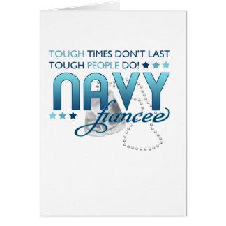 Gente dura (prometido de la marina de guerra) tarjeta de felicitación