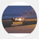gente-en-playa pegatina redonda