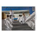 Gente en una clase del Taekwondo Felicitacion