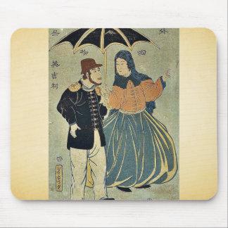 Gente extranjera - ingleses por Utagawa, Yoshitora Alfombrilla De Ratones