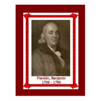Gente famosa, Banjamin Franklin 1705-1790 Postal