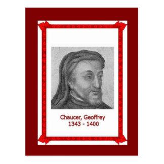 Gente famosa, Geoffrey Chaucer 1343-1400 Tarjetas Postales