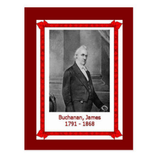 Gente famosa, James Buchanan 1701 - 1868 Tarjeta Postal