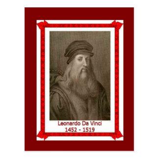 Gente famosa, Leonardo da Vinci 1452 - 1519 Postal