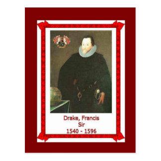 Gente famosa, sir Francis Drake, 1540-1596 Postal