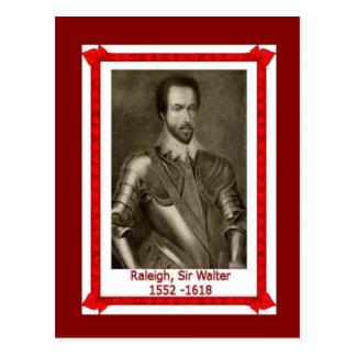 Gente famosa, sir Walter Raleigh 1552-1618 Tarjetas Postales