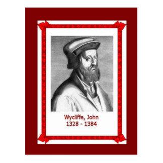 Gente famosa, wycliffe de Juan, 1328-1384 Postal