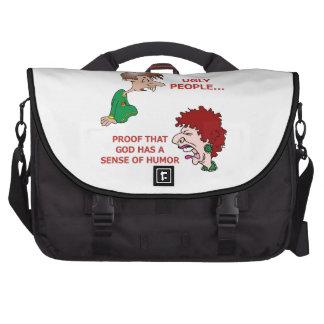 Gente fea que insulta grosera divertida bolsas para portatil