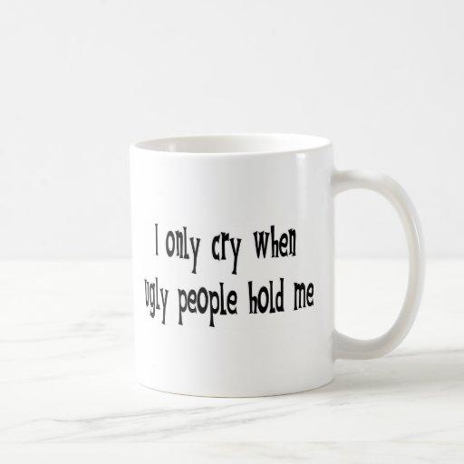 Gente fea taza de café