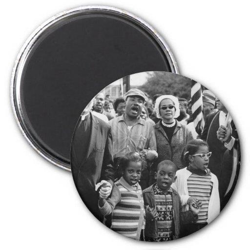 Gente influyente de los años 60 imán redondo 5 cm