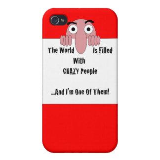 Gente loca soy uno de ellos iPhone 4 carcasas