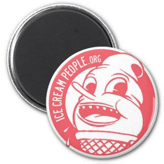 """Gente """"logotipo retro """" del helado imán redondo 5 cm"""