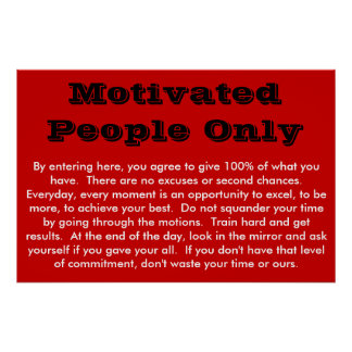 Gente motivada solamente impresiones