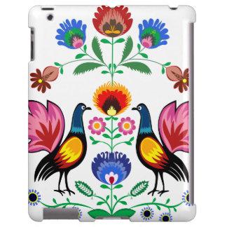 Gente polaca con floral decorativo y los pollos funda para iPad