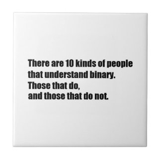 Gente que entiende el binario azulejo cuadrado pequeño