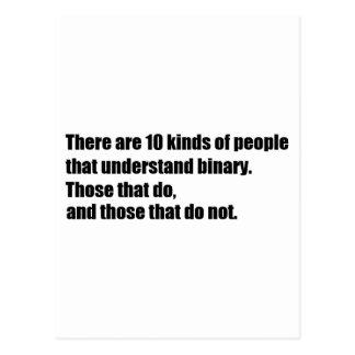 Gente que entiende el binario tarjetas postales