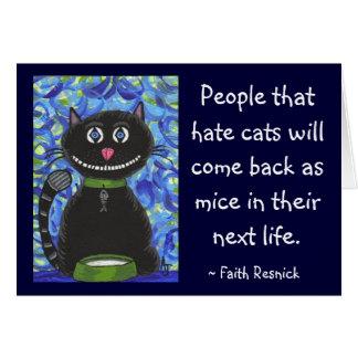 Gente que odia gatos… - tarjeta de felicitación