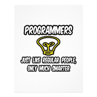 Gente regular de los programadores…, solamente más flyer a todo color