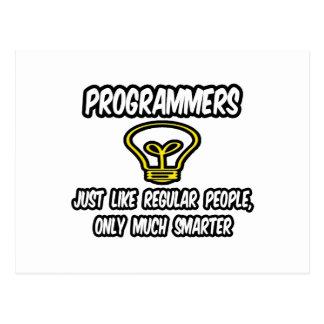 Gente regular de los programadores…, solamente más postal