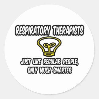 Gente regular de los terapeutas de Resp…, Pegatina Redonda