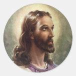 Gente religiosa del vintage, retrato del etiqueta redonda