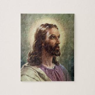Gente religiosa del vintage, retrato del puzzle con fotos