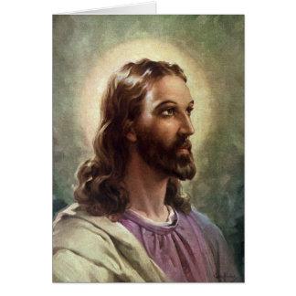 Gente religiosa del vintage, retrato del tarjeta de felicitación