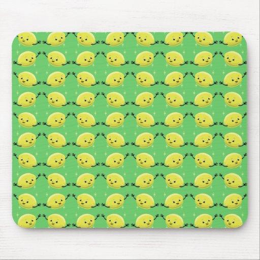Gente retra adaptable del limón alfombrilla de raton