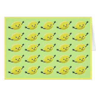 Gente retra del limón tarjeta de felicitación