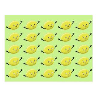 Gente retra del limón tarjetas postales