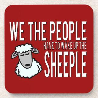 Gente y Sheeple - humor político Posavasos De Bebidas