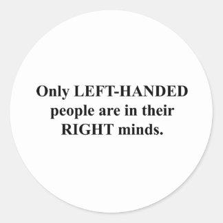 Gente zurda en su mente correcta pegatinas