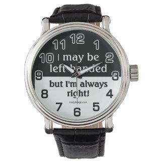 Gente zurda reloj de mano